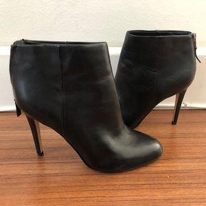 Sam Edelman Black Leather High Heel Booties 7.5